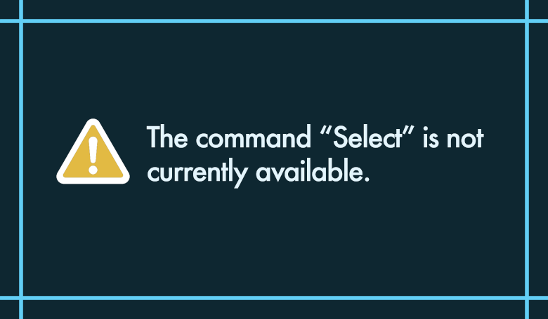 """Photoshopアクションのエラー「The command """"Select"""" is not currently available.」の対処法"""