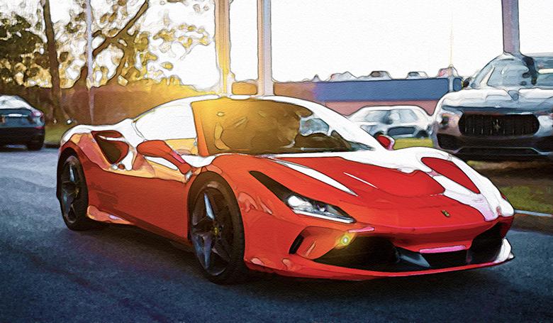 スポーツカーの写真