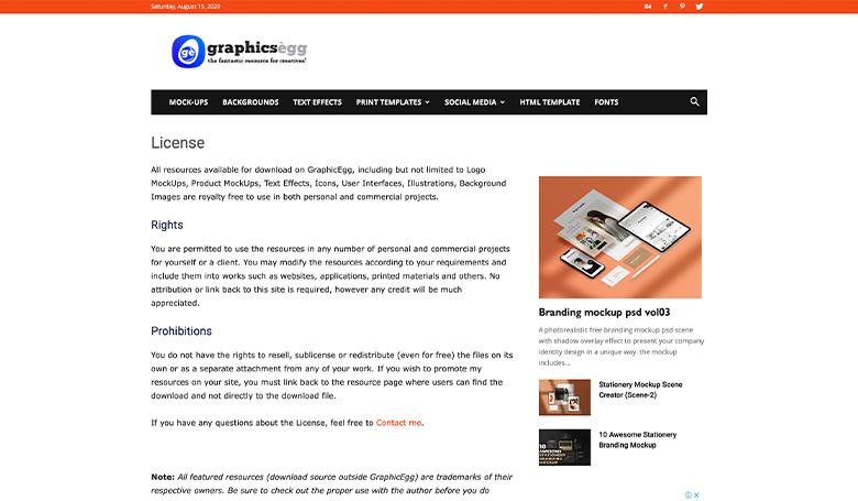 Graphicseggのサイト画面
