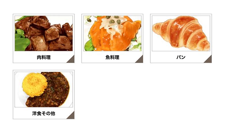 食べ物のカテゴリーページの画像