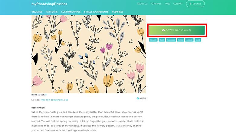 myphotoshopbrushesのサイト画像
