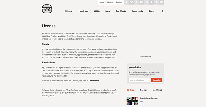 GraphicBurgerのライセンス画像
