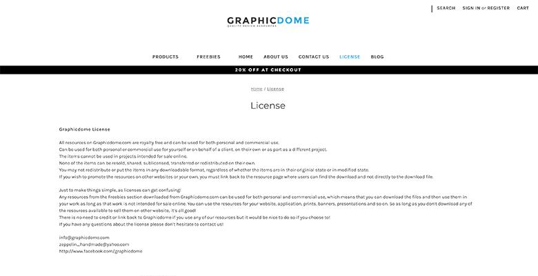 Graphicdomeの使用許諾