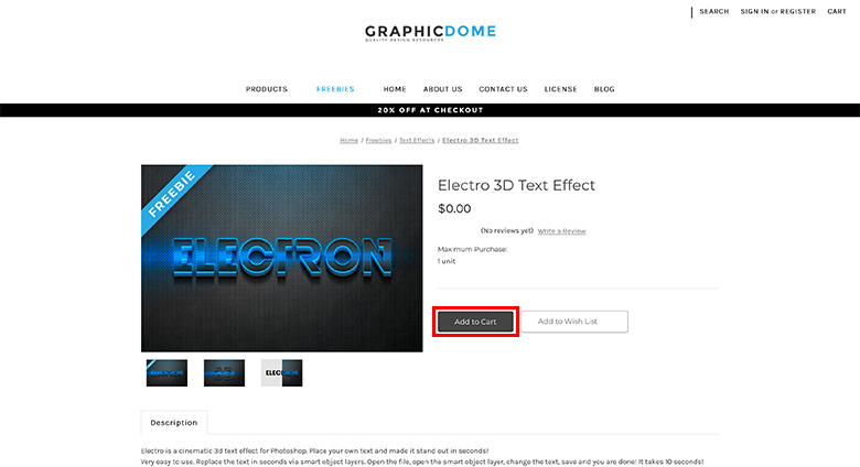 Graphicdomeのサイト画面